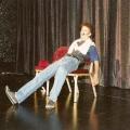 Erster Auftritt beim Schweizer Showtalent-Wettbewerb 1994 im Shopping-Center-Spreitenbach. Parodie von Boris Becker.