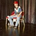 Erster Auftritt beim Schweizer Showtalent-Wettbewerb 1994 im Shopping-Center-Spreitenbach. Parodie von Gerhard Berger.