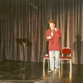 Erster Auftritt beim Schweizer Showtalent-Wettbewerb im Shopping-Center-Spreitenbach. Parodie von Rudi Carrell.