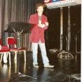 Erster Auftriit beim Schweizer Showtalent-Wettbewerb 1994 im Shopping-Center-Spreitenbach. Parodie von Rudi Carrell.