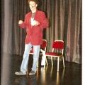 Erster Auftritt beim Schweizer Showtalent-Wettbewerb 1994 im Shopping-Center-Spreitenbach. Parodie von Rudi Carrell.